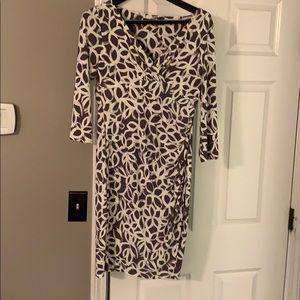 Ralph Lauren gray and white print dress